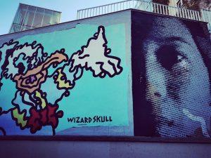street art in #vienna #streetartpassage #museumsquartier #streetart #arteurbano #artecallejero #artederua #wizardskull