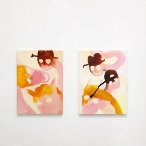 In freedom of absurdity, since 2016 Sarah Bogner has dedicated herself to a series entitled Pink Horses....
