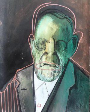 Sigmund Freud by Milica Vuckovic @vuckovic.milica