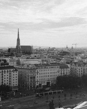 from another point of view. #vienna #view #rooftop #architecture #architecturephotography #blackandwhite #city