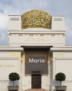 Moria—the banner above the entrance to the Secession is a sign of solidarity ...