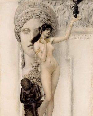 Allegory of Sculpture - Gustav Klimt Kunsthistorisches Museum Vienna
