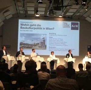 Wohin geht die Baukultur in Wien? Das diskutierten wir jetzt mit den Vertreter*innen ...
