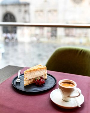 We wish you all a beautiful day! Just enjoy coffee and cake with the best view in...