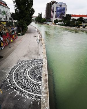 #streetart #viennayouarebeautiful #vienna #aspernbrücke #mandala #austria #art #artwork #hometown #innercity