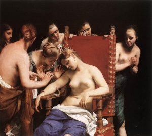 The Death of Cleopatra by Guido Cagnacci, 1658. 🎨Oil on canvas, 140 x 159,5 cm 🏛Kunsthistorisches Museum,...