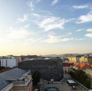 #sunset above #vienna in the #mq with a spectacular view from the #libelle. MQ – MuseumsQuartier Wien
