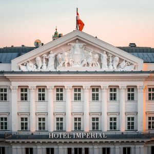 Hotel Imperial, where the exquisite Imperial Torte is crafted to the highest standards, ...