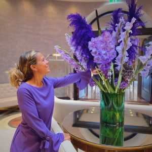 The Sans Souci welcomes the colorful autumn with shining violet nuances. The colour violet stands for freedom...