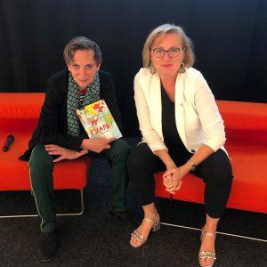 """Heute bei der Buchpräsentation von """"ESCAPE! - Fluchtverhalten"""" (@leykamverlag). Mit Manuela Vollmann und @guentheroberhollenzer_kurator MQ – MuseumsQuartier..."""