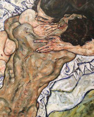 Egon Schiele Die Umarmung, Tod und Mädchen Belvedere Museum