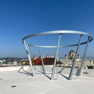 MQ Libelle, on the roof top of Leopold Museum at MuseumsQuartier Wien. (Not ...