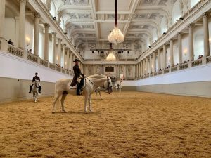 perfection, elegance, precision and beauty: the famous white stallions and their riders. 👏👏👏 Spanische Hofreitschule