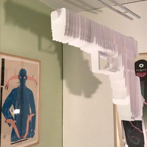 #parallelvienna #peterbaldinger #papergun #contemporaryart Parallel Vienna