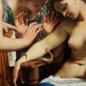 Guido Cagnacci 1601 - 1663 The Suicide of Cleopatra (Detail) 1659 #GuidoCagnacci #vienna ...