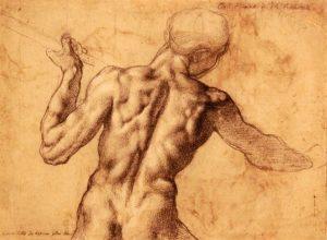 Michelangelo 1475-1564 Male Nude (1504) #albertinamuseum #albertina #albertinavienna #renaissance #michelangelodrawings #renaissanceart #vienna #wienistanders ...