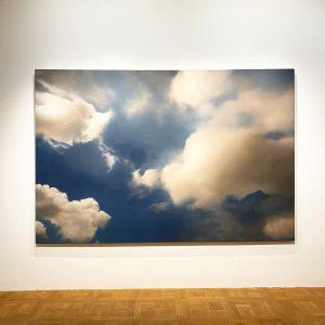 "Gerhard Richter's ""Cloud"" from 1976 over Vienna's skies at Kunstforum. The exhibition ""Landscape"" ..."