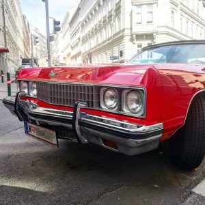 They just don't make bumpers like they used to. That's a Chevrolet Caprice, ...