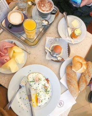 I wish I could have this every morning! Cafe Diglas Wollzeile