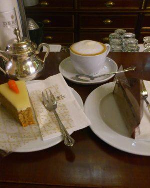 ウィーンに来たら一度は食べないと! ザッハトルテと欲張ってキャロットケーキも一緒に☕ #旅行 #海外旅行#旅行行きたい#ヨーロッパ#オーストリア#ウィーン #オーストラリアじゃないよ#Europe #Austria#Österreich#Traveler #vienna #demel #cake #sweets #cafe Demel