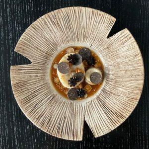 Pike perch. Truffle. Mushroom. Hazelnut. #truffleseason #startingsoon #blackdiamonds #teamkonstantinfilippou @michelinguide @gaultmillau_austria @50bestdiscovery Restaurant Konstantin Filippou