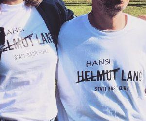 #partnerlook #helmutlang statt #bastikurz. #hansilang schau oba. PS: Ja, ich bin etwas kleiner...