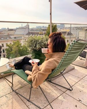 Sunday morning in Vienna ☕️💯🔛 #weekendtrip #skyline #morningvibes #friendstime #autumn #viennalove Grand Ferdinand - Hotel am Ring