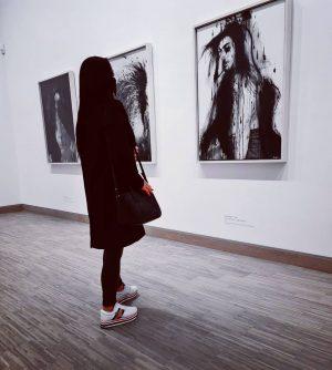 """Life isn't about finding yourself. Life is about creating yourself."" #albertina#kunst#art#moder#psycho#blackandwhite#museum#wien#karsplatz#paintings#girl#polishgirl#goodtime#weekend#wien#osterreich# Albertina Modern"