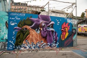 Hahnenwasser ___________ #igersaustria #igersvienna #colourplay #artstagram #streetartvienna #urbanart #contemporaryart #streetartvienna #donaukanal #rooster #welovevienna ...
