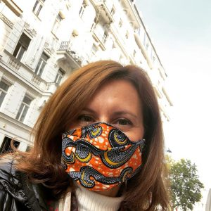 @handmadestoryfashion Love my new mask! Amazing colors and so comfy! #classicaledition #lenafankhauser #perfectforfall
