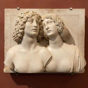 Tullio Lombardo (1460-1532). Young couple • c.1505-1510. Marble. . #tulliolombardo #venetianmarble #venetiansculpture #venetiansculptor ...