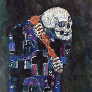 Gustav Klimt - Tod und Leben - Detail of Death 💀 -1915 ⠀⠀⠀⠀⠀⠀⠀⠀⠀⠀⠀⠀ ⠀⠀⠀⠀⠀⠀⠀⠀⠀⠀⠀⠀ Detail of Klimt's...