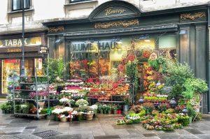 (De) Dieses schöne Blumengeschäft ist gleich hinter dem Stephansdom zu finden und weil die Blumen so schön...