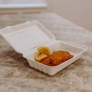 Auch unser Cordon Bleu vom Huhn gibt es to go - entweder bei uns direkt abholen oder...