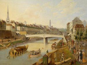 Ferdinandsbrücke Bereits im Mittelalter überquerte an der Stelle der heutigen Schwedenbrücke die hölzerne ...