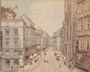 Der Stephansplatz um 1860 Richard Moser