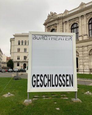 war im ersten #lockdown2.0 #innerestadt #burgtheater #geschlossen #afterwork #view #happylockdown #offensichtlich #vienna #firstdistrict