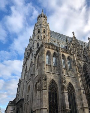 Stephansplatz #stephansplatz #ststephanscathedral #stephanscathedral #cathedral #wien #vienna #osterreich #austria #blue #sky #clouds #history #traveller #travel #love #life...