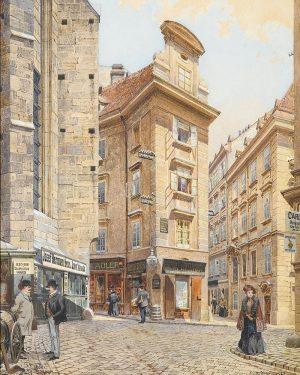 Seitzergasse Richard Moser, Aquarell 1901