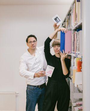 #mumokinsider: Art Book Day #1, Angling for books. Sarah Bogner and Josef Zekoff, ...