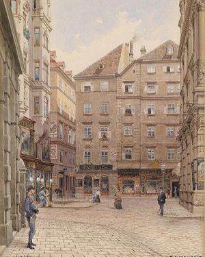 Irisgasse gegen Naglergasse Richard Moser, 1924