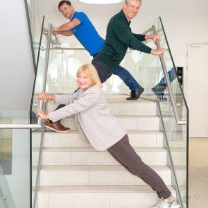 In den Stiegenhäusern der Seestadt wird's sportlich! Jeder weiß, dass sich der Verzicht auf den Lift positiv...