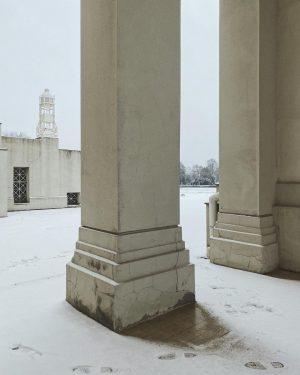 ❄️ #snow #vienna Wiener Zentralfriedhof