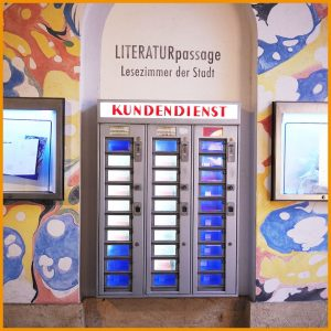 📚 Literatur aus dem Automaten? Gibt es kostengünstig in der Literaturpassage im @mqwien ...