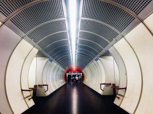 Wien Hauptbahnhof train station.