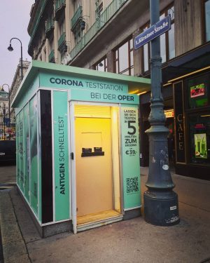 ..früher #Würstelstand 🌭 heute #Corona Teststation.. 💉 . #vienna #austria #berlin #germany #frankfurt #hamburg #stuttgart #düsseldorf #paris...