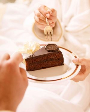 Have you already sweetened up your day with a piece of our Original Sacher-Torte? 🤍 . ....