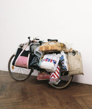 Is this a bicycle of a homeless person or is this art? This ...