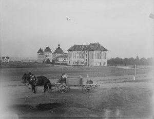"""Zeitreise: Mit Pferden zur BOKU 💫🐴. Um 1905 herrschte an der Wiener Türkenschanze reger """"Pferdefuhrwerk-Verkehr"""". Auf dem..."""