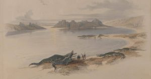 Crocodile Dundee 🐊 'Tabarias, from the walls - Jaffe in the distance', David Roberts, online auction Paintings,...